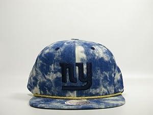 Mitchell & Ness Acid Wash Denim NFL New York Giants Snapback Hat
