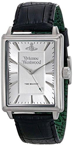 Vivienne Westwood VV066SSBK - Reloj analógico para hombre, correa de cuero color negro