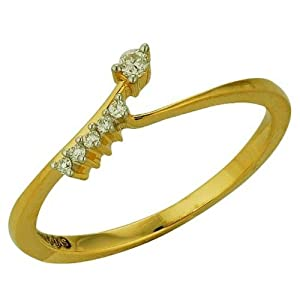 Asmi Women Girls Ring ADR 00362 Gold