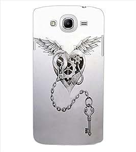 ColourCraft Heart and Key Design Back Case Cover for SAMSUNG GALAXY MEGA 5.8 I9150