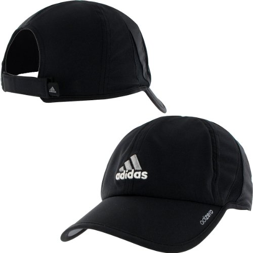 ADIDAS Cap  adidas Men s Adizero Cap (Black Aluminum 2 740e454768b
