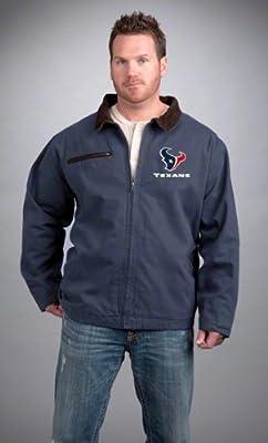 NFL Houston Texans Tradesman Canvas Quilt Lined Jacket, Navy, 4X