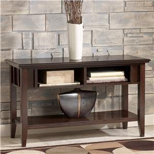 Cheap Metro Modern Sofa Console Table Accent Dark Brown Finish (T160-4)