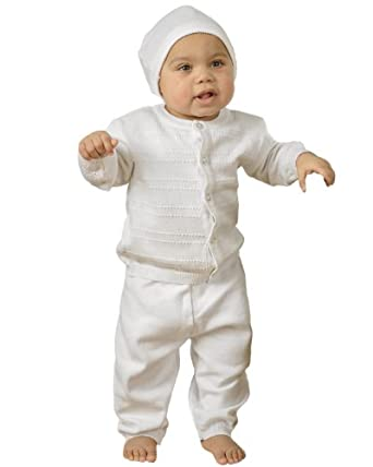 Aiden Newborn Knit Christening Baptism Blessing Outfit for Boys