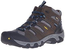 KEEN Men\'s Koven Mid WP Shoe, Cascade Brown/Ink Blue, 10.5 M US