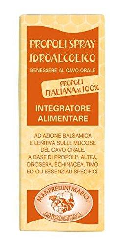 Apicoltura Manfredini - Propoli Spray Orale Idroalcolico con Estratti di Altea, Drosera ed Echinacea