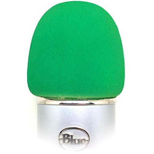 Foam Windscreen For Blue Yeti, Mxl, Audio Technica, And Other Large Microphones - Green