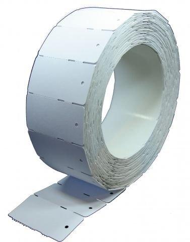 Étiquettes en carton en rouleau blanc (3.000 étiquettes en carton 30 x 58 mm