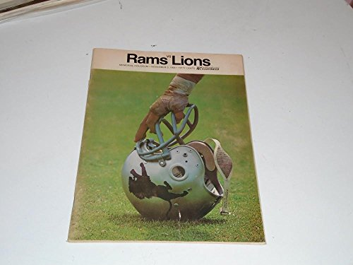 1968 DETROIT LIONS AT LOS ANGELES RAMS NFL FOOTBALL PROGRAM EX-MINT (Detroit Lions Program compare prices)