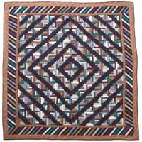 "Dusty Diamond Log Cabin Quilt King 105""x 95"" QKDDLC by Patch Magic"