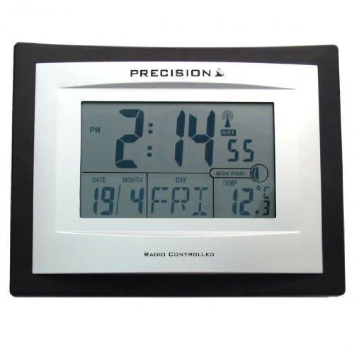 precision-silver-lcd-radio-controlled-alarm-clock-black
