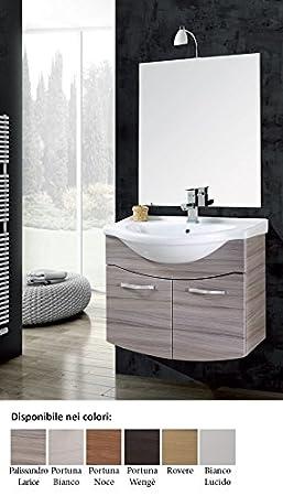 mobile da bagno con lavabo sospeso con specchio Vittoria Arredo per Bagno moderno composizione set