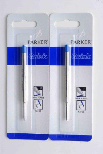 Parker - Quink: 2 Recharges Bille Couleur Bleu en Tube PlastiqueTaille: Fine