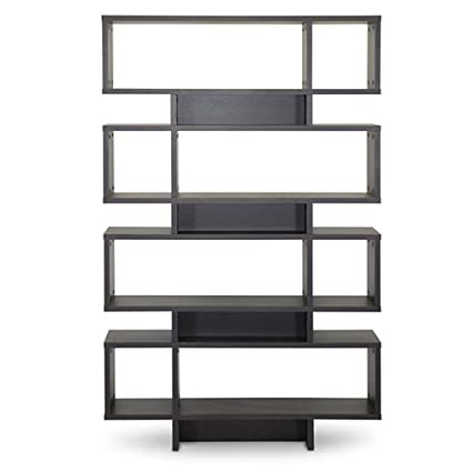 Baxton Studio FP-8DS-Shelf (3A) Cassidy 8-Level Modern Bookshelf, Dark Brown