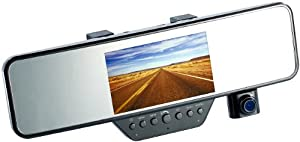 NavGear NX-4081-906 Rückspiegel-Dashcam (10,9 cm (4,3 Zoll) TFT-Display, Bluetooth 3.0, G-Sensor, Full HD, microSD-Kartenslot, mini-USB 2.0)