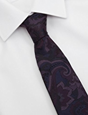 Autograph Made in Italy Pure Silk Floral Tie