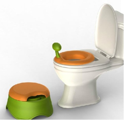 One-horn Scaraba Multi-funtion Baby Potty, Yellow Combine Green K1220
