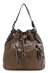 Scarleton Large Drawstring Handbag H107821 - Coffee