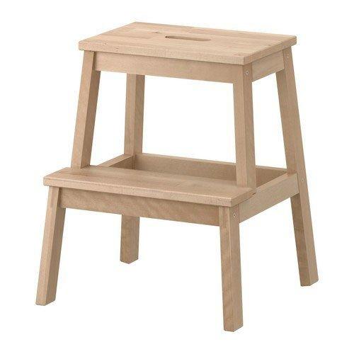 IKEA-Tritthocker-Bekvm-Tritt-aus-Massivholz-mit-Griffffnung