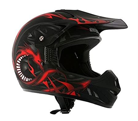 AMX AMXDRAGONNL Casque Cross Dragon, Noir, L