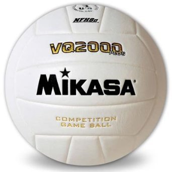 Mikasa VQ2000 Plus Indoor Competition Volleyball Color: White