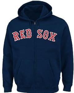 MLB Boston Red Sox Shut Out Full-Zip Hooded Fleece Jacket, Navy, X-Large