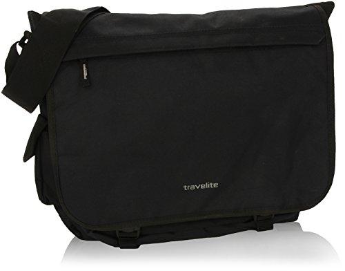 Travelite 96248 Borsa Messenger Basics, 25 litri, Nero