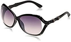 GIO Collection Oversized Sunglasses (Black) (P12322)