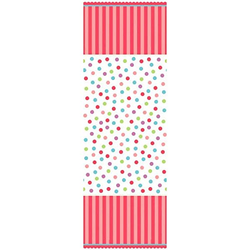 "Amscan Sweet Little Cupcake Girl 1st Birthday Paper Table Cover Party Supplies, 54"" x 102"", Pink - 1"