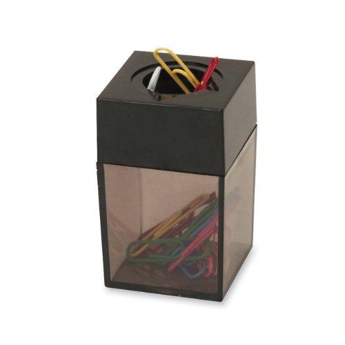 S.P. Richards Company Paper Clip Dispenser, Magnetic, 2 x 3 Inches, Smoke/Black (SPR11796)