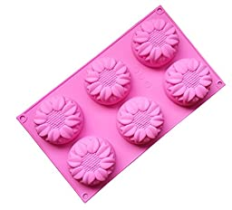 Sun Flowers Silicone Non Stick Cake Ice Cube Mold Chocolate Jelly Candy Biscuit Moul