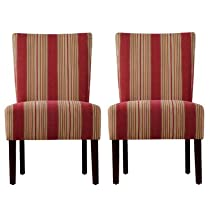Big Sale Handy Living 340C2-EBA47-047 Cabana Crimson Dunley Chair, 2-Pack