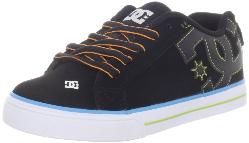 DC Kids Court Graffik Vulc Skate Shoe (Little Kid/Big Kid),Black/Glow,2 M US Little Kid