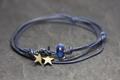 little-stars-blaualaska-Lederarmband