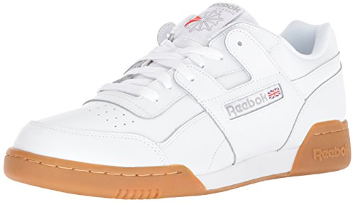 Reebok Men's Workout Plus Cross Trainer, White/Carbon/Classic red, 10 M US