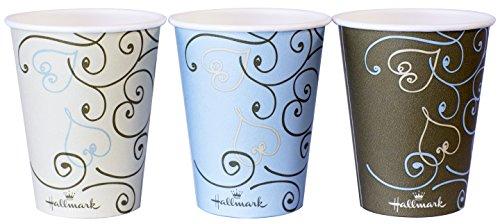 ペーパーカップ ホールマーク 厚紙カップ ハート 280ml(9oz) 50個入り(3色込み) 業務用 AC2850HT