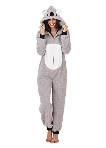 Womens-Pug-Dog-Or-Mouse-Hooded-Super-Soft-Onesie-With-3D-Face-Ears-Tail