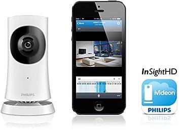 philips m120e 10 cam ra cam ra de surveillance hd sans fil pour maison avec avec. Black Bedroom Furniture Sets. Home Design Ideas