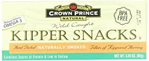 Crown Prince Natural Kipper Snacks - Low in Sodium, 3.25-Ounce Cans (Pack of 9)