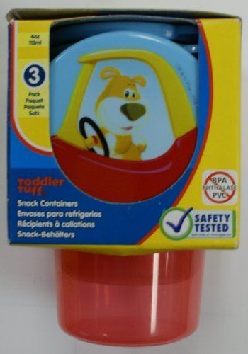 Little Tikes BPA PVC FREE 3 Snack containers - 4 oz