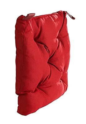 Sitzkissen - Stuhlkissen - Gartenstuhlkissen rot 40 x 40 x 8 cm Gesa von Unbekannt - Gartenmöbel von Du und Dein Garten