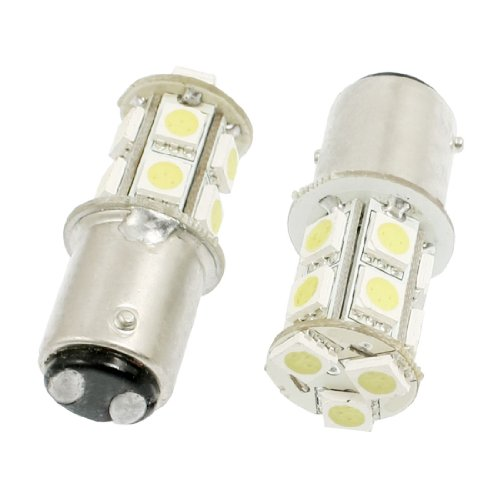 2 Pcs Car 1157 Bay15D White 5050 Smd 13 Led Turn Brake Tail Stop Light Bulb