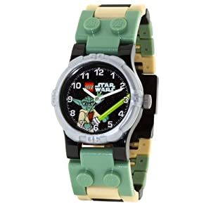 LEGO Kids' Star Wars Black Dial Yoda Minifigure Link Watch