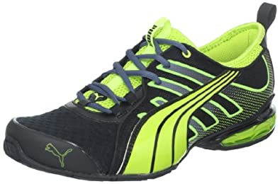PUMA Men's Voltaic 4 Fade Running Shoe,Black/Lime Punch,7 D US