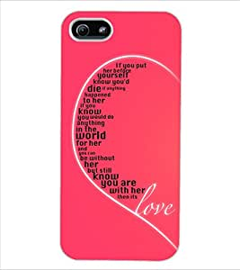 ColourCraft Heart Look Design Back Case Cover for APPLE IPHONE 5S