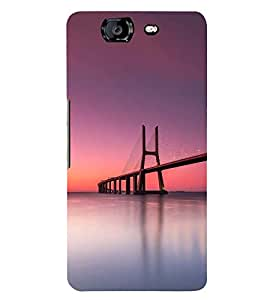 SUSPENSION SEA LINK AT SUNSET 3D Hard Polycarbonate Designer Back Case Cover for Micromax Canvas Knight A350