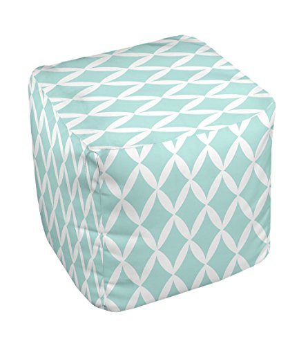 E by design FG-N1-Ocean_White-18 Geometric Pouf