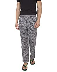Calvin Klein Men's Cotton Lounge Pants (701549679527_NM1158AD_ Medium_Ck Lg Print/Ash  Go1)