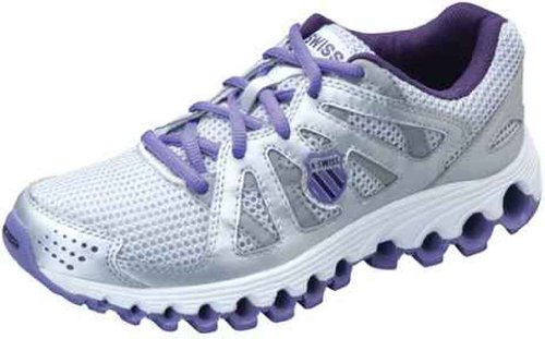 K-Swiss Tubes Run 110 Women's Running Shoe - Silver/Mysterioso/Deep Lavender (6)