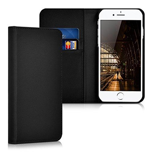 kalibri-Leder-Hlle-James-fr-Apple-iPhone-7-Echtleder-Schutzhlle-Wallet-Case-Style-mit-Karten-Fchern-in-Schwarz